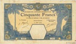 50 Francs GRAND-BASSAM AFRIQUE OCCIDENTALE FRANÇAISE (1895-1958)  1924 P.09Db TB+