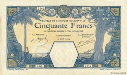 50 Francs GRAND-BASSAM AFRIQUE OCCIDENTALE FRANÇAISE (1895-1958) Grand-Bassam 1924 P.09Db TTB+