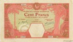 100 Francs DAKAR AFRIQUE OCCIDENTALE FRANÇAISE (1895-1958)  1926 P.11Bb TTB+