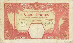 100 Francs GRAND-BASSAM AFRIQUE OCCIDENTALE FRANÇAISE (1895-1958) Grand-Bassam 1924 P.11Dd pr.TTB