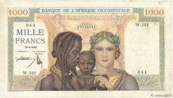 1000 Francs AFRIQUE OCCIDENTALE FRANÇAISE (1895-1958)  1945 P.24 TB+