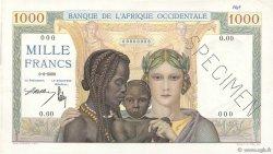 1000 Francs AFRIQUE OCCIDENTALE FRANÇAISE (1895-1958)  1937 P.24s SUP+