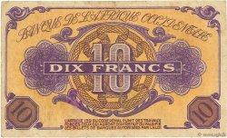10 Francs AFRIQUE OCCIDENTALE FRANÇAISE (1895-1958)  1943 P.29 TB+