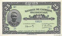 25 Francs AFRIQUE OCCIDENTALE FRANÇAISE (1895-1958)  1942 P.30b NEUF