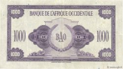 1000 Francs AFRIQUE OCCIDENTALE FRANÇAISE (1895-1958)  1942 P.32a TTB