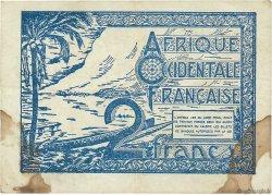 2 Francs AFRIQUE OCCIDENTALE FRANÇAISE (1895-1958)  1944 P.35 TB