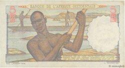 5 Francs AFRIQUE OCCIDENTALE FRANÇAISE (1895-1958)  1943 P.36 TTB+