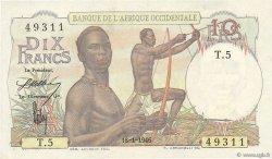 10 Francs AFRIQUE OCCIDENTALE FRANÇAISE (1895-1958)  1946 P.37 SUP