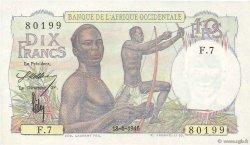 10 Francs AFRIQUE OCCIDENTALE FRANÇAISE (1895-1958)  1946 P.37 pr.NEUF
