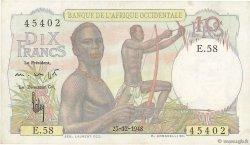 10 Francs AFRIQUE OCCIDENTALE FRANÇAISE (1895-1958)  1948 P.37 SUP