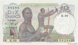 10 Francs AFRIQUE OCCIDENTALE FRANÇAISE (1895-1958)  1953 P.37 pr.NEUF