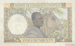 25 Francs AFRIQUE OCCIDENTALE FRANÇAISE (1895-1958)  1943 P.38 SUP