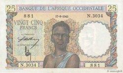 25 Francs AFRIQUE OCCIDENTALE FRANÇAISE (1895-1958)  1943 P.38 pr.NEUF