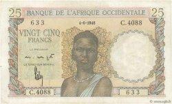 25 Francs AFRIQUE OCCIDENTALE FRANÇAISE (1895-1958)  1948 P.38 SUP