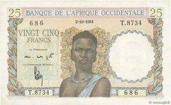 25 Francs AFRIQUE OCCIDENTALE FRANÇAISE (1895-1958)  1951 P.38 pr.NEUF