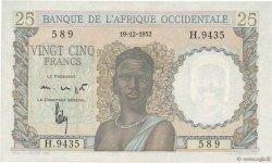 25 Francs AFRIQUE OCCIDENTALE FRANÇAISE (1895-1958)  1952 P.38 pr.NEUF