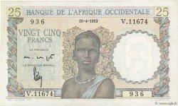 25 Francs AFRIQUE OCCIDENTALE FRANÇAISE (1895-1958)  1953 P.38 SUP