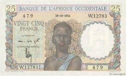 25 Francs AFRIQUE OCCIDENTALE FRANÇAISE (1895-1958)  1954 P.38 SPL