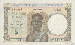 25 Francs AFRIQUE OCCIDENTALE FRANÇAISE (1895-1958)  1954 P.38 SUP