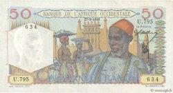 50 Francs AFRIQUE OCCIDENTALE FRANÇAISE (1895-1958)  1944 P.39 SUP