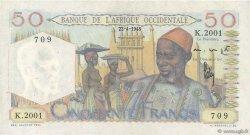 50 Francs AFRIQUE OCCIDENTALE FRANÇAISE (1895-1958)  1948 P.39 TTB+