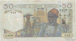 50 Francs AFRIQUE OCCIDENTALE FRANÇAISE (1895-1958)  1953 P.39 TB+