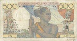 500 Francs AFRIQUE OCCIDENTALE FRANÇAISE (1895-1958)  1951 P.41 pr.TTB