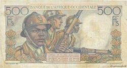 500 Francs AFRIQUE OCCIDENTALE FRANÇAISE (1895-1958)  1953 P.41 pr.TTB