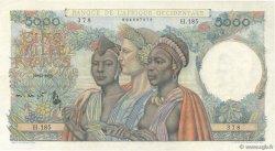 5000 Francs AFRIQUE OCCIDENTALE FRANÇAISE (1895-1958)  1950 P.43 SUP+