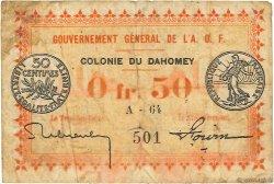 50 Centimes DAHOMEY  1917 P.01a B+