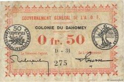 50 Centimes DAHOMEY  1917 P.01a TB+