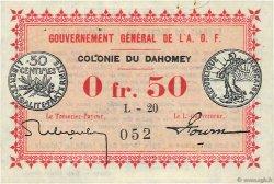 50 Centimes DAHOMEY  1917 P.01b TTB