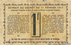1 Franc DAHOMEY  1917 P.02a TB+