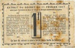 1 Franc DAHOMEY  1917 P.02a TB