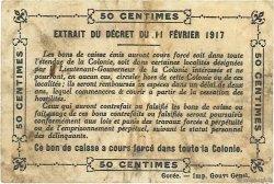 50 Centimes GUINÉE  1917 P.01d TB+