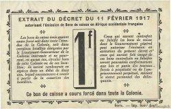 1 Franc SÉNÉGAL  1917 P.02b TTB+