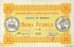 2 Francs SÉNÉGAL  1917 P.03a TTB