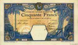 50 Francs DAKAR FRENCH WEST AFRICA Dakar 1919 P.09Ba VZ