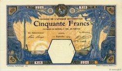 50 Francs DAKAR AFRIQUE OCCIDENTALE FRANÇAISE (1895-1958)  1919 P.09Ba SUP
