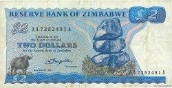2 Dollars ZIMBABWE  1980 P.01a TB