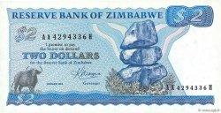 2 Dollars ZIMBABWE  1983 P.01b pr.NEUF