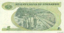 5 Dollars ZIMBABWE  1983 P.02c SUP