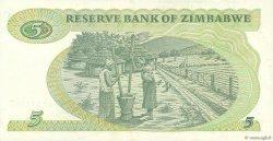 5 Dollars ZIMBABWE  1993 P.02d TTB