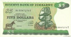 5 Dollars ZIMBABWE  1994 P.02d pr.NEUF