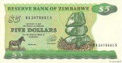 5 Dollars ZIMBABWE  1994 P.02e pr.NEUF
