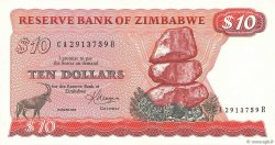 10 Dollars ZIMBABWE  1983 P.03d pr.NEUF