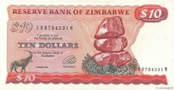 10 Dollars ZIMBABWE  1994 P.03e TTB+