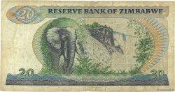 20 Dollars ZIMBABWE  1983 P.04c B