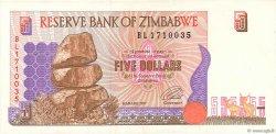 5 Dollars ZIMBABWE  1997 P.05a TTB