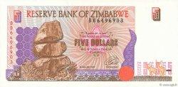 5 Dollars ZIMBABWE  1997 P.05a SPL